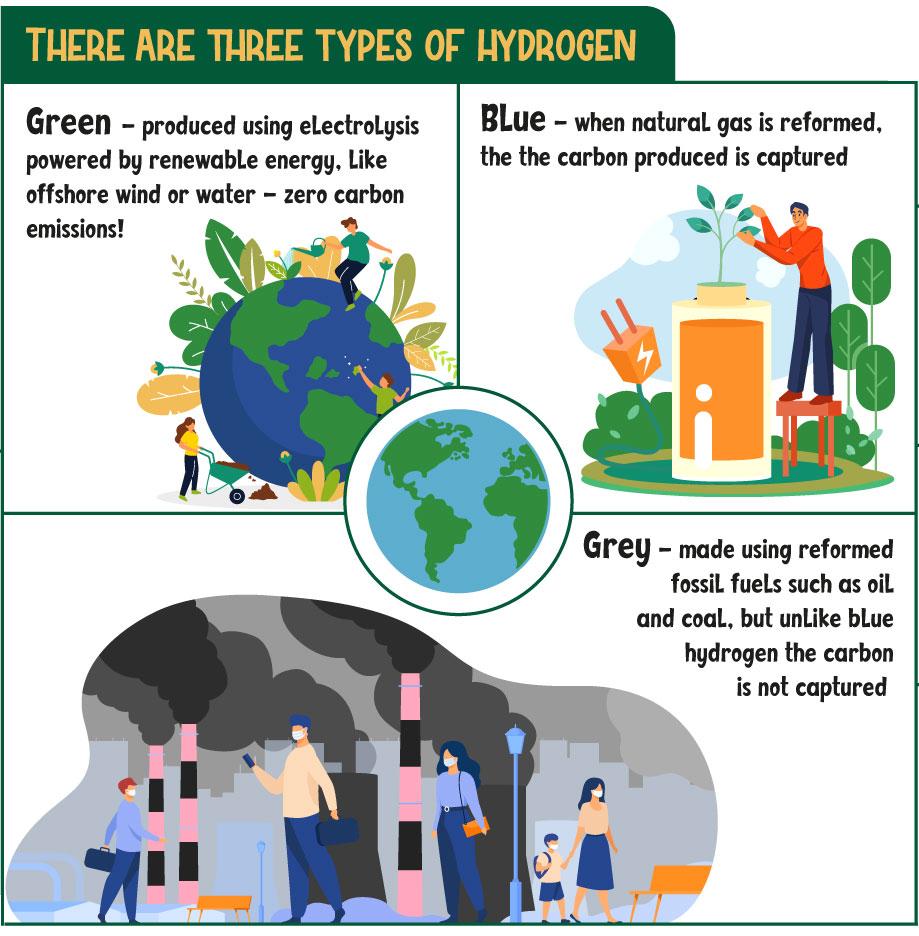 Three types of hydrogen
